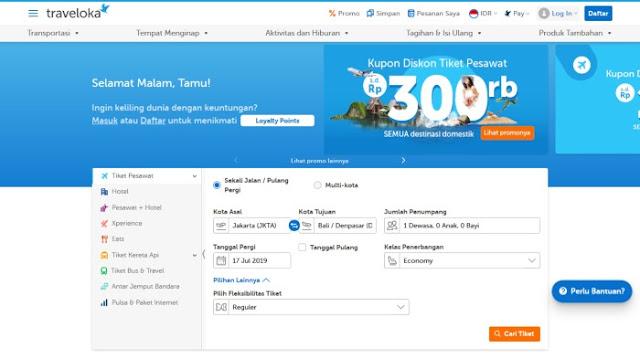 Aplikasi tiket pesawat harga murah dan terbaik dengan traveloka