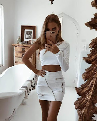 OUTFIT CROP TOP BLANCO