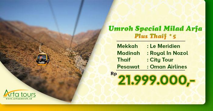 Paket Umroh Plus Thaif di Bulan Maret 2020 Arfa Tour