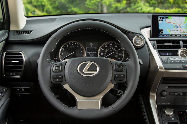 Interior view of 2017 Lexus NX 200t F SPORT