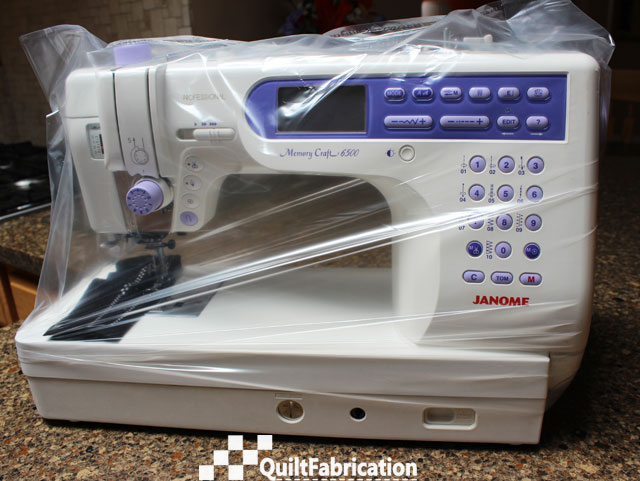 Janome 6500 home from the spa