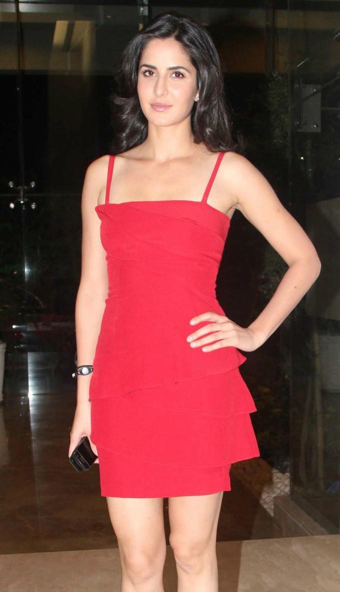 Katrina Kaif Cute Photos In Red dress