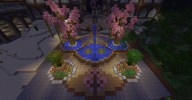 La fontaine Sakura Minecraft