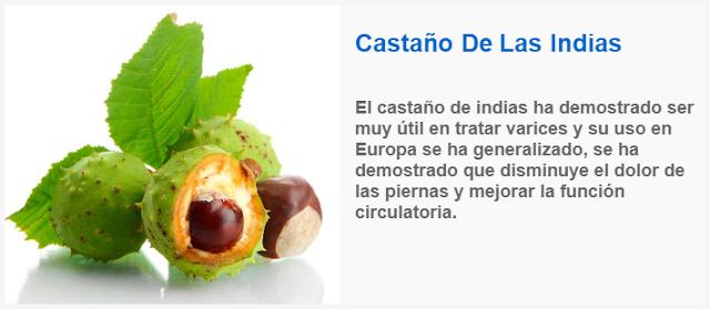 Castaño De Las Indias para eliminar varices