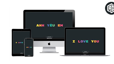 Share template typing text transition - I love you