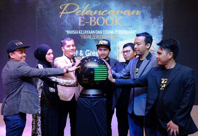 Majlis Pelancaran Ebook From Zero To Hero, hasil penulisan Dato' Aliff Syukri