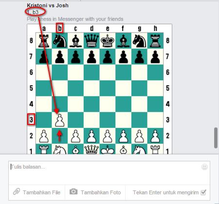 Mengaktifkan Permainan Catur pada Facebook Messenger - Move
