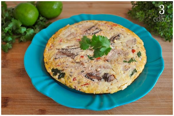 omelete de sardinha low carb