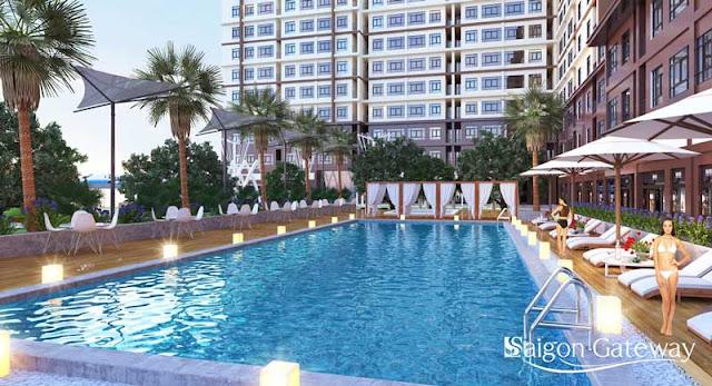 Hệ thống hồ bơi hiện đại nội khu dự án Sài Gòn Gateway