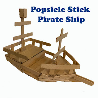Popsicle Stick Pirate Ship
