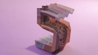 ORIGAMI MONEY | 3d origami number 5 instructions (Jo Nakashima) cách gấp số 5 bằng tiền giấy