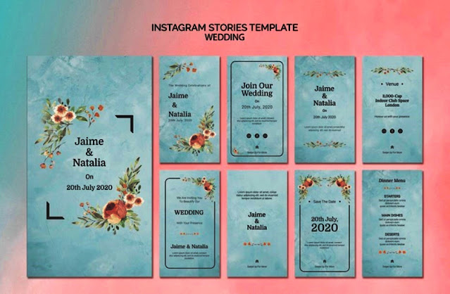 template ig story for wedding invitation