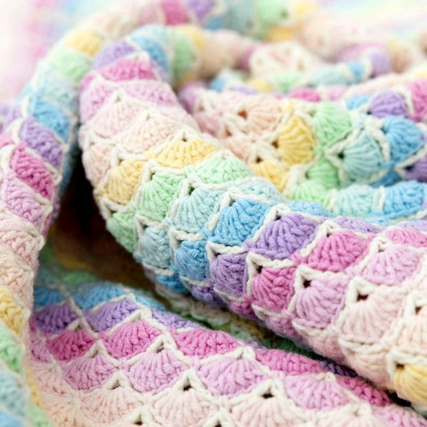 Free Crochet Pattern Of Baby Blanket - Crochet Square Shell Stitch