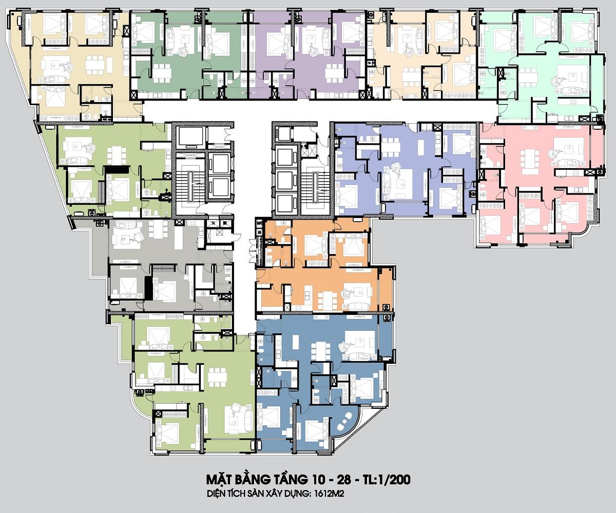 Thiết kế chung cư Hateco La Roma Chùa Láng