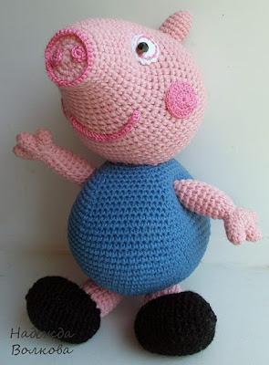 Свинка Джордж игрушка крючком