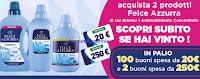Logo Felce Azzurra & Ipersoap: vinci buoni spesa da 20€ e 250€