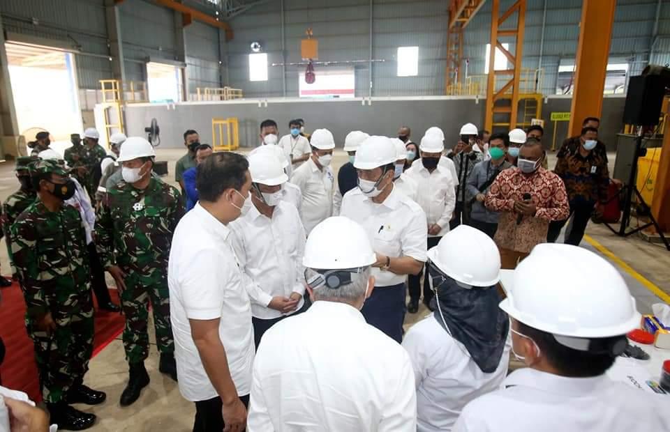 Walikota Batam Bersama Gubernur Kepri Dampingi Menko Marves Resmikan Pabrik Pengolahan Limbah di Barelang