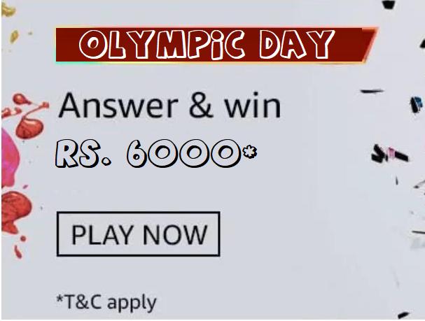 Amazon International Olympic Day Quiz Answer