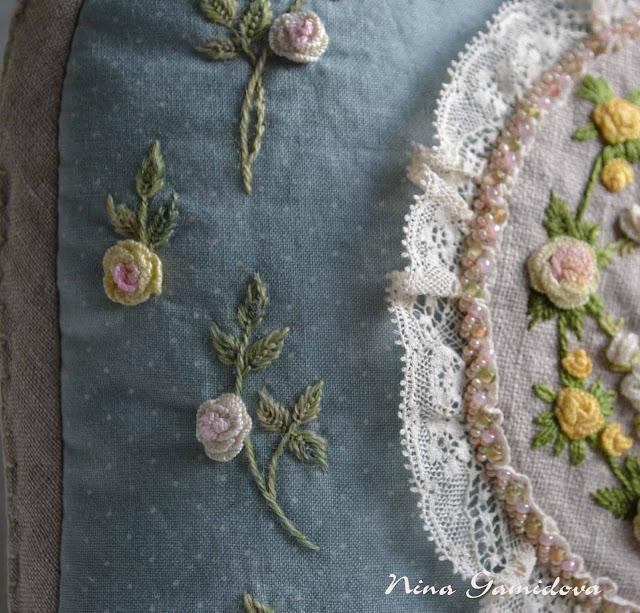 петельный наборный шов для розы
