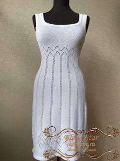 Платье сарафан на вязальной машине