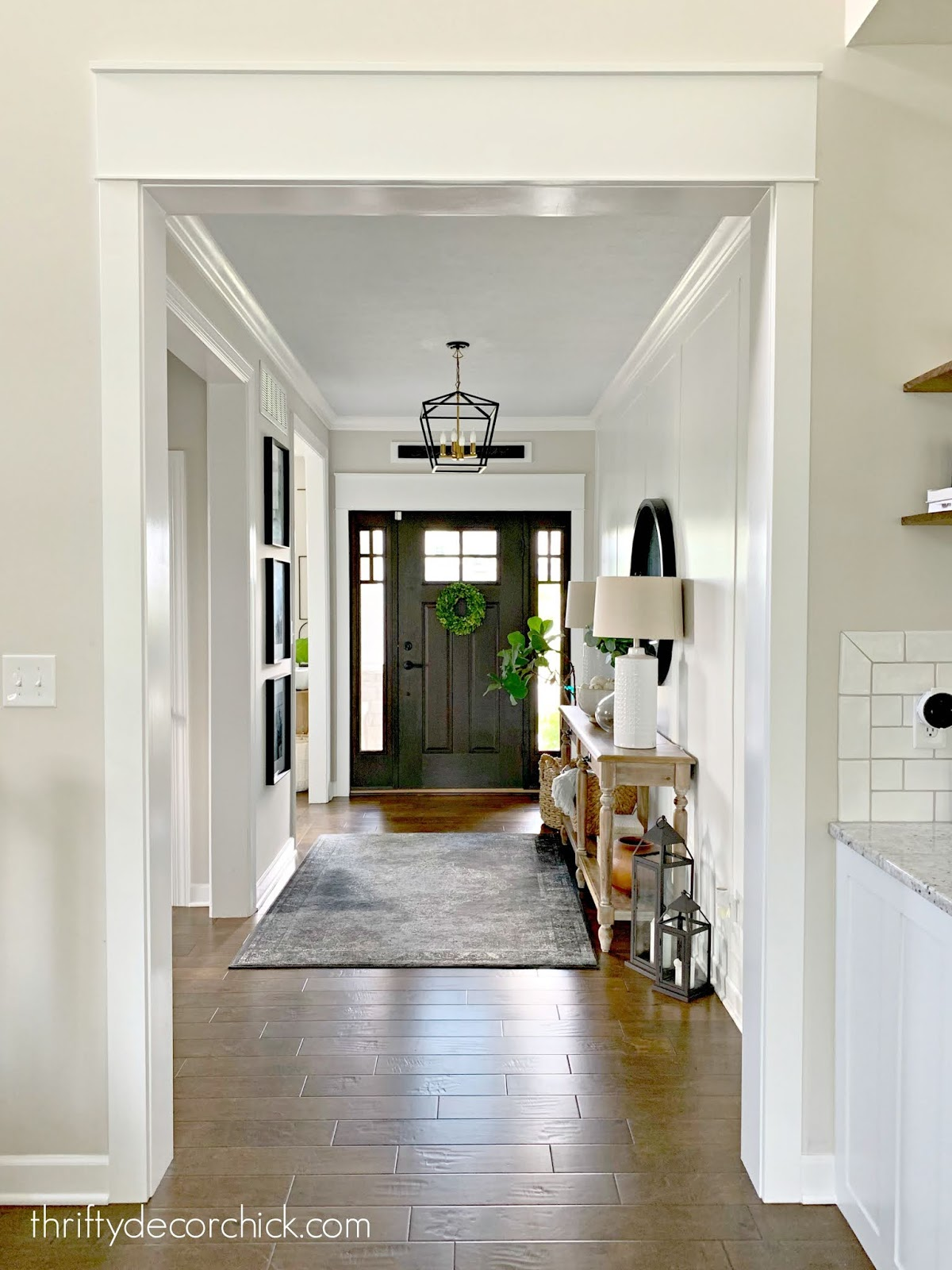 Adding chunky trim around doorway