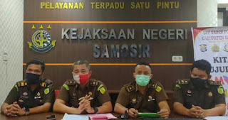 Jaksa Tetapkan Sekda dan Kadis Perhubungan Samosir Sebagai Tersangka Dugaan Korupsi Dana Covid-19