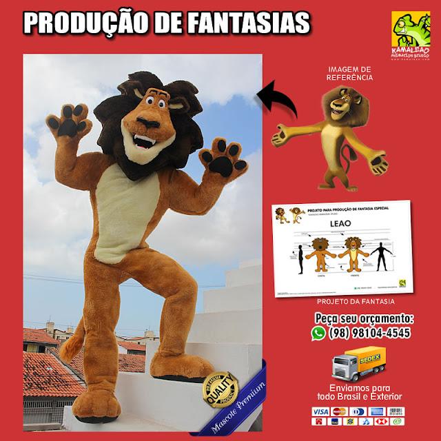 Fantasia Leão Madagascar para vestir
