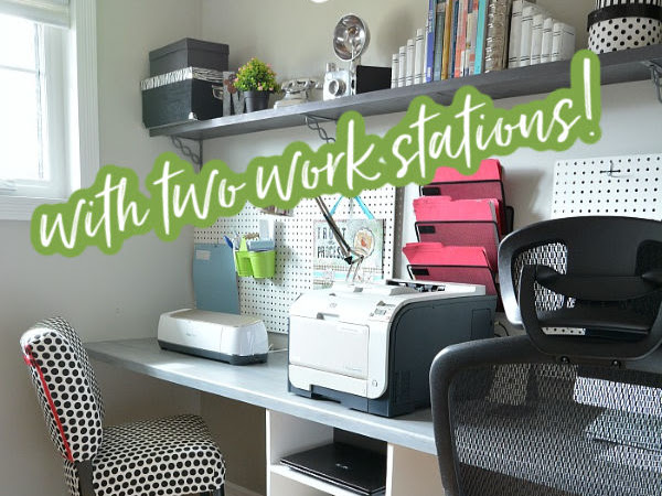 DIY Space Saving Home Office Floating Desk