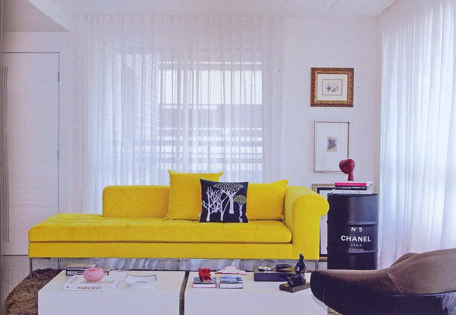 Construindo Minha Casa Clean D Vida De Decora O Da Leitora Sala  -> Cor De Parede Para Sala Amarelo
