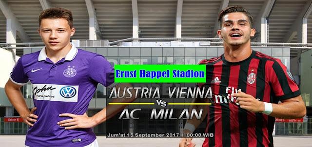 Prediksi Taruhan Bola 365 - Austria Vienna vs AC Milan 15 September 2017