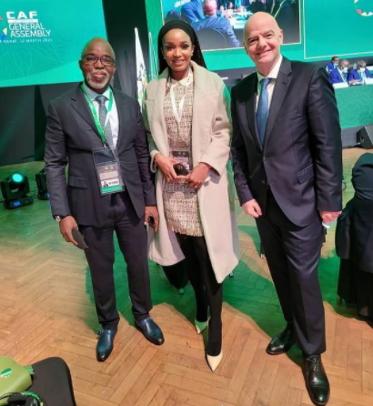 NFF President Amaju Pinnick Celebtrates His Election into FIFA council seat