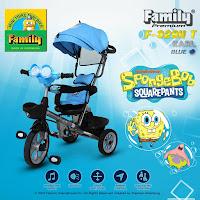 Sepeda roda tiga anak spongebob squarepants baby tricycle stroller