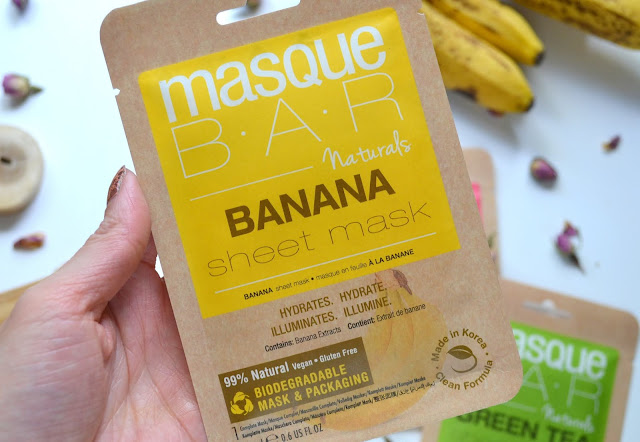 MasqueBAR Naturals Banana Sheet Mask