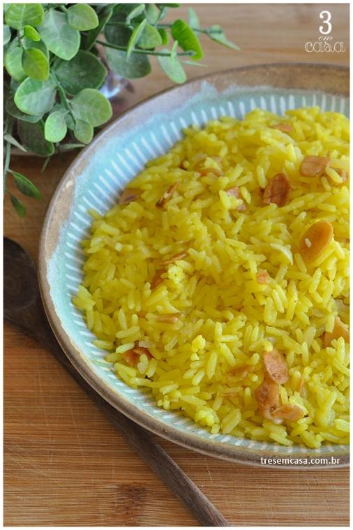 arroz de açafrão receita