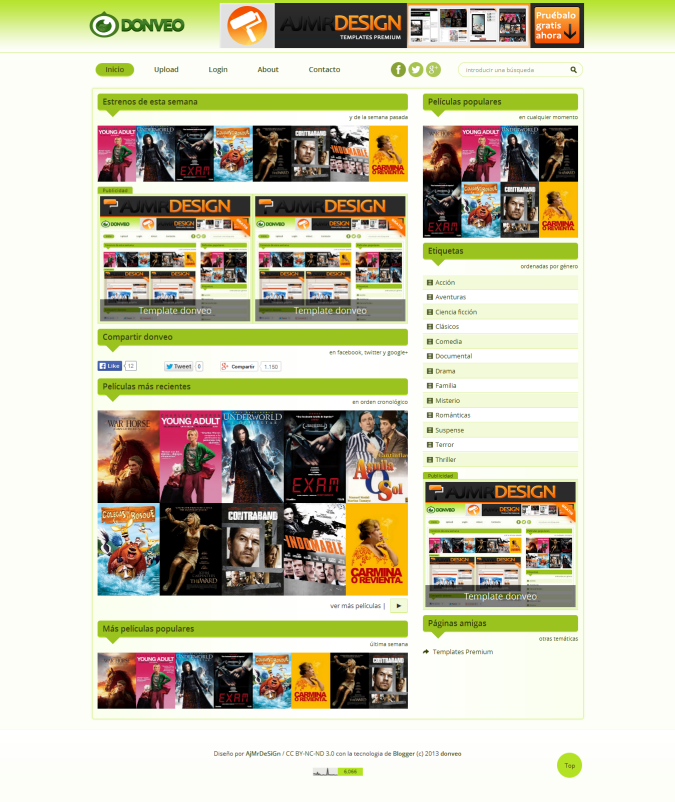 Donveo Respective HTML5 and CSS3 Blogger Template