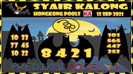 Syair Kalong HK Malam ini 12 September 2021