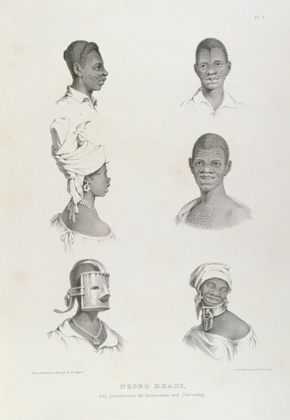Heads circa 1836 Richard Bridgens