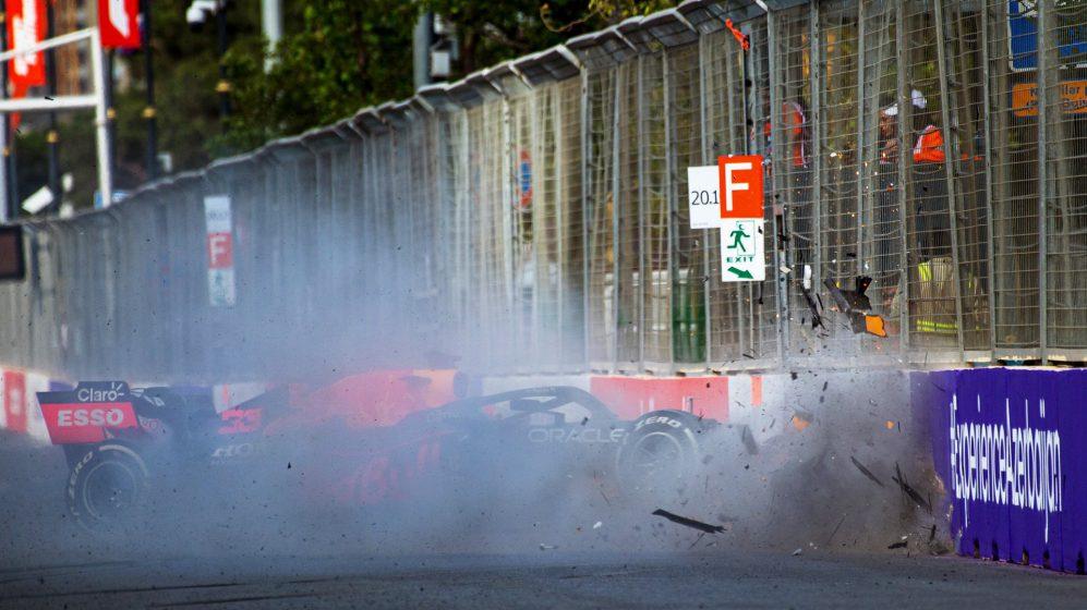 O acidente de Max Verstappen gerou ligações da Red Bull para sinalizar a corrida