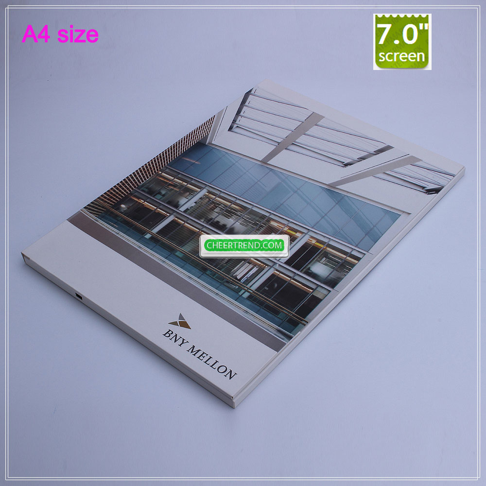 A4 Size 7 Inch Video Brochure Design In Template