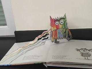 """Monstre barbouillé du Livre """"La couleur des émotions"""" de Anna Llenas"""
