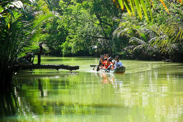 Sungai Cigenter di kawasan wisata Ujung Kulon