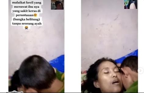 Seorang anak yang dijuluki 'malaikat kecil' engagan melepaskan pelukannya dari jasad ibunya