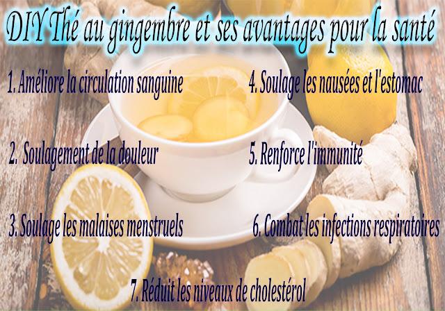 DIY Thé au gingembre et ses avantages pour la santé
