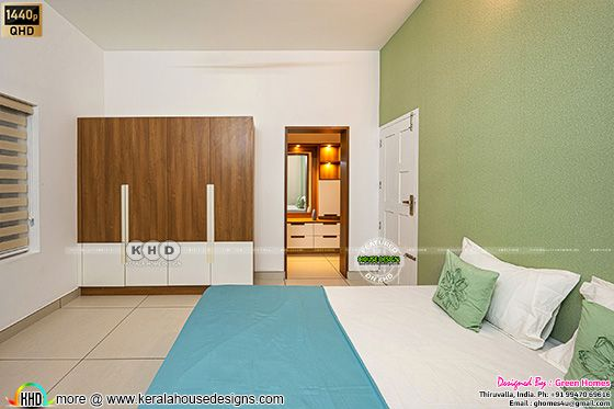 Green bedroom photograph