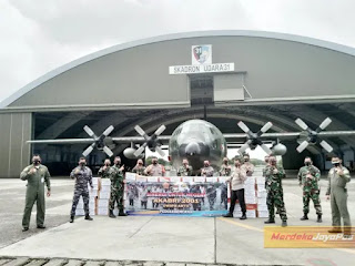 Sinergi Untuk Negeri Batalyon Dwipa Arya Kirim Bantuan 8 Ton ke Sulbar dan Kalsel