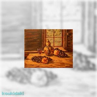 Ελαιογραφία του Νίκου Τζανώφ (νεκρή φύση)