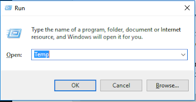 Windows Run Temp file
