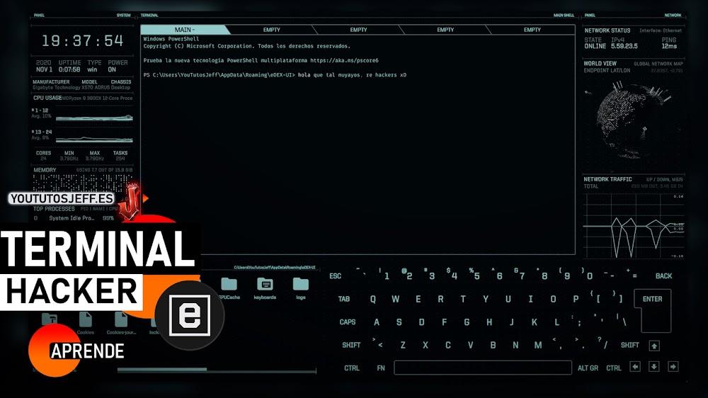 Terminal para Hackers? Descargar eDEX-UI para Windows, Linux y Mac