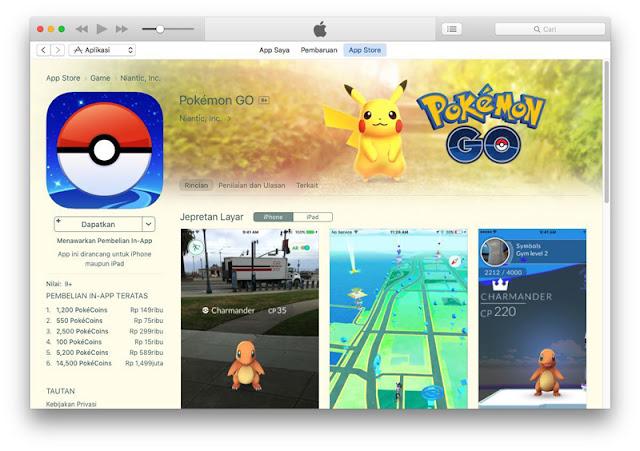 Pokemon Go Resmi Rilis Di Indonesia