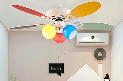 ventilador techo habitación infantil blog mimuselina dormir con calor descanso bebé mucha temperatura
